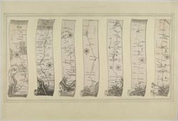 Seven Plans of Roads leading from London to the Environs (Plan No. 1 to 7 of 14)